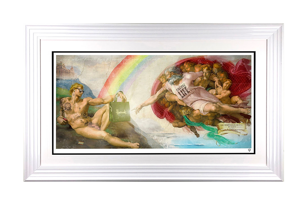 JJ Adams | Temptation of God, By Dave (From Brighton) | Giclee Print on Museum Paper, Limited Edition of 95 with certificate of authenticity