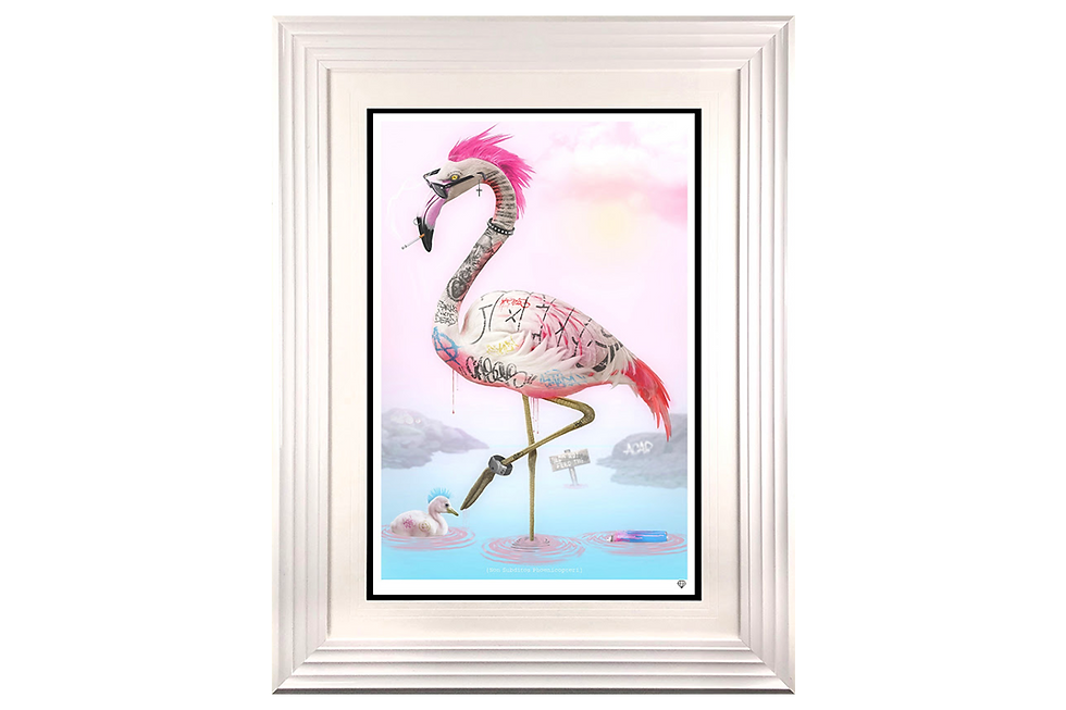JJ Adams | Punk Flamingos | Giclee Print on Museum Paper, Limited Edition of 95 with certificate of authenticity