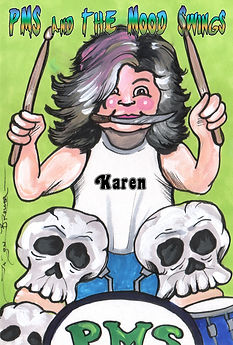 Garbage Pail Kid pms and the moodswings drummer karen isabel by jason brower