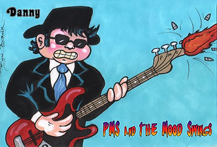 Garbage Pail Kid pms and the moodswings bassist danny goldshtein by jason brower