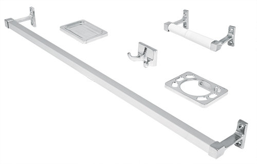 Bathroom Metal Accessory Set -BASIC