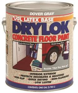 UGL 21413 Floor Paint, Dove Gray, Flat, 1 gal Can