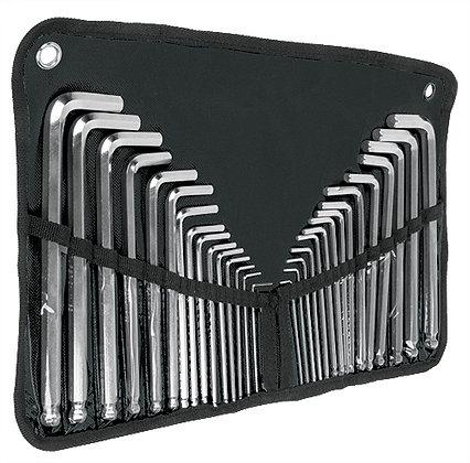 30-Pc Hex Key Set, Plastic Case