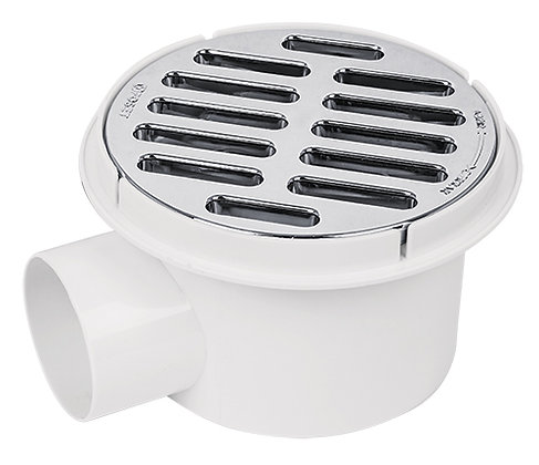 "2"" Side Outlet ABS Shower Drain Foset"