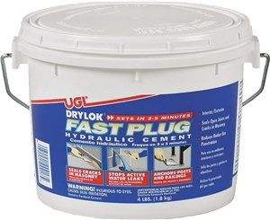 UGL DRYLOK Fast Plug 00917 Hydraulic Cement, 16 cu-in/lb Coverage Area, Gray, 4