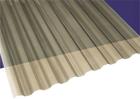 Tole clear brown Corrugated 26 x 12
