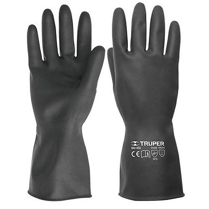 PR Cotton Lining Rubber Gloves, Long Cuff