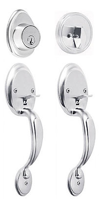 Double Handlesets w/ Thumbpiece and Turn Button Deadbolt