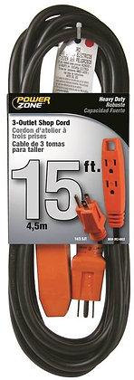 15FT Rallonge, 3-outlet