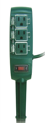 Yard Stake, 125 V, 13 A, 3 Outlet