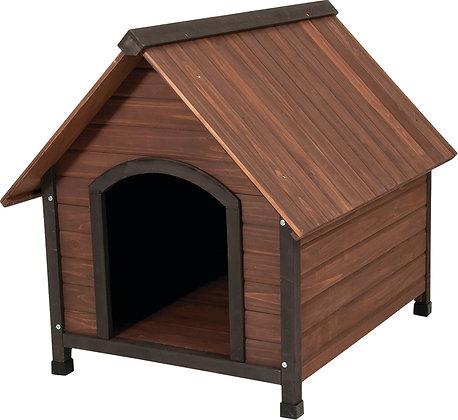 Ruff Hauz 25038 Peak Roof Dog House, Solid Wood