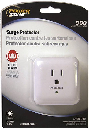 Surge Protector Tap, 125 V, 15 A, 1 Outlet