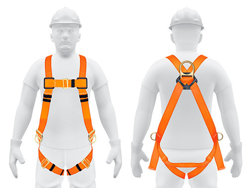 3 D-RING FULL BODY POSITIONING AND FALL PROTECTION HARNESS