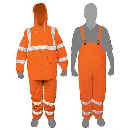 2-pc High Visibility Orange Rainsuits