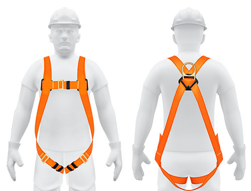 1 D-RING FULL BODY FALL PROTECTION HARNESS