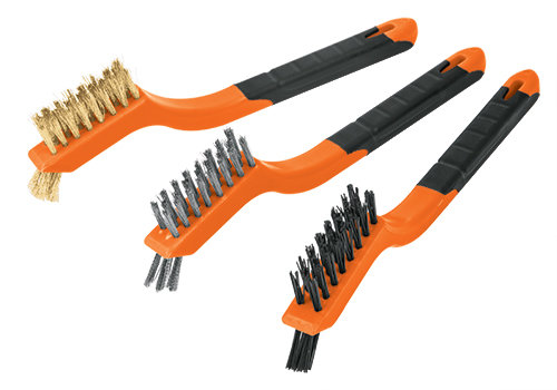 3-pc Mini wire Brush Set
