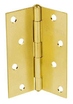 Pair Rectangular Brass Hinge