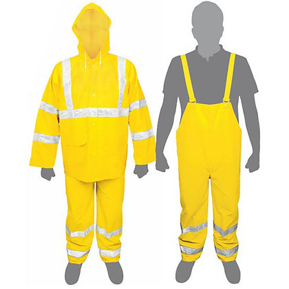 2-pc High Visibility Yellow Rainsuits