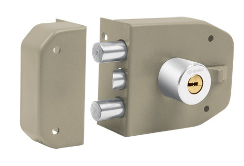 Maximum Security Deadbolt door lock set w/ 2 latches - dimple key