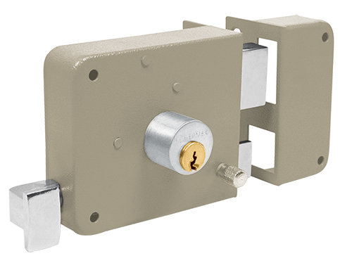 Right Deadbolt Rim lock set - standard key