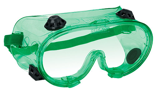 Safety green goggles