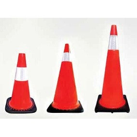 Traffic Safety Cones w/ Reflective Collar