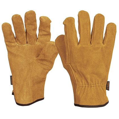 General Purpose Leather Gloves, Elastic Wrist