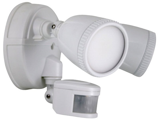 LED Security Light, 110 - 240 V, 40000 hr, 70 CRI, 5000 K, 15 W LED Lamp, 1200 l