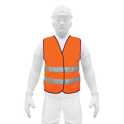 """High Visibility Safety Vest, 2"""" Reflective Strip"""