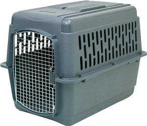 Pet Porter 21183 Pet Carrier, 2L, 36 in L x 25 in W x 27 in H, Plastic, Dark Gra