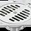 Thumbnail: Aqua Brass Square Shower Drain w/ Strainer
