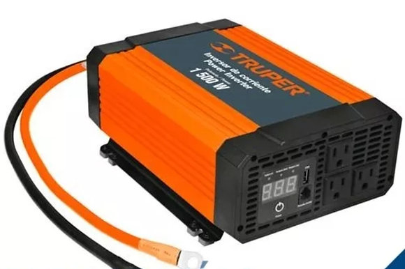 1,500W Power Inverter , 3 AC Outlets w/ USB Charging Port