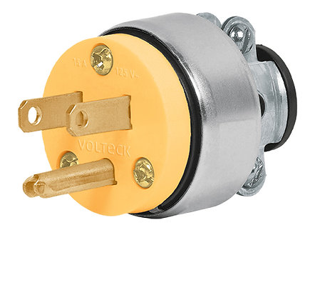 15A Armored Grounded Plug and Connector