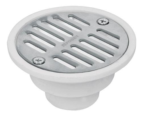 Basic Steel Round Shower Drain Foset