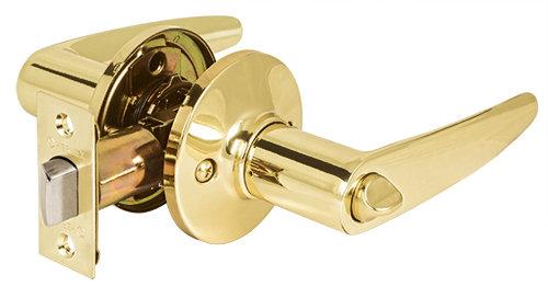 Solid Brass Cylinder Door Levers - Bathroom