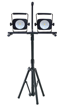 Work Light With Double Tripod, 56 W, 100 - 240 VAC, LED Bulb, 5000 lumens, 4000