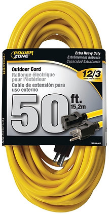 SJTW Extension Cord, 12/3, 50 ft, Double