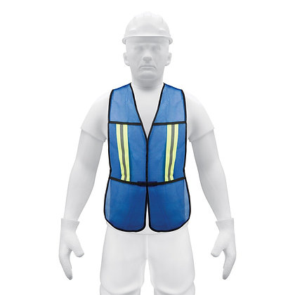 "High Visibility Safety Vest, 3/4"" Double Reflective Strip"