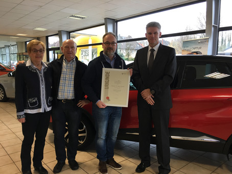 Ehrung 45 Jahre Renault Vertragspartner
