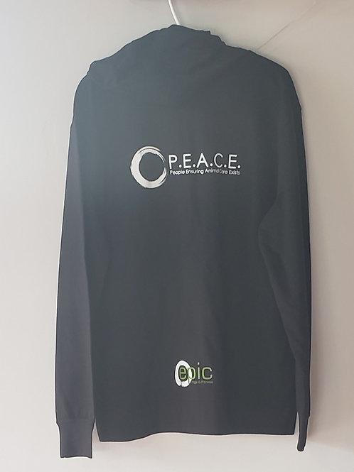 PEACE/EPIC unisex zip up hoodie