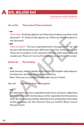 Sample Grammar Appendix Page