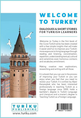 Back Cover Page of Welcome to Turkey Book
