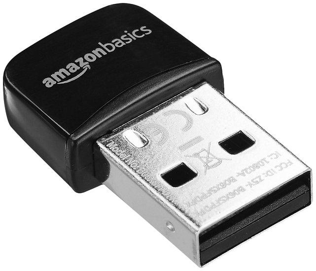 AmazonBasics Wi-Fi 11n USB Nano Adapter, 150 Mbps