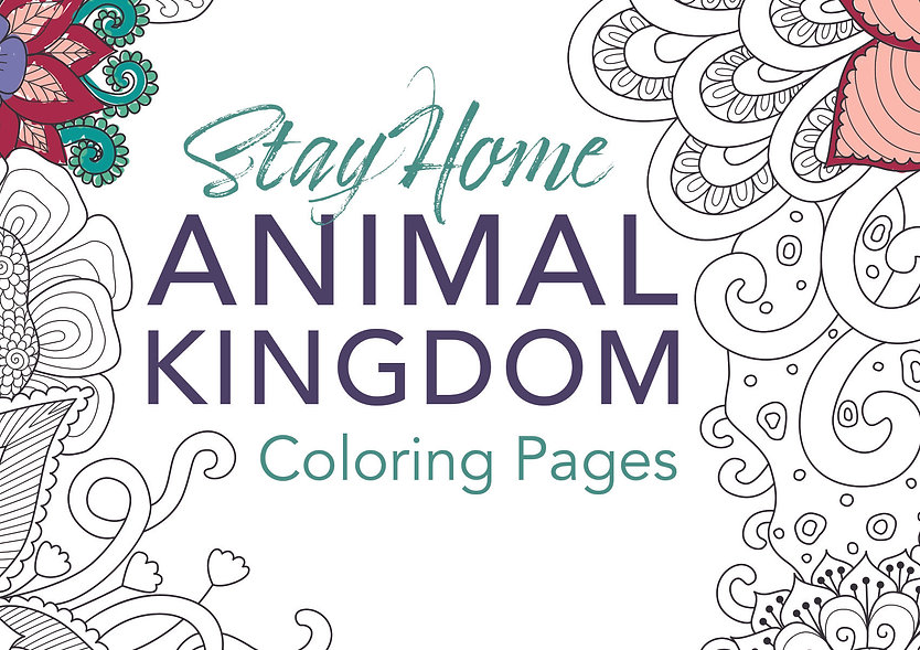 FB - Coloring Pages - Animal Kingdom Cov