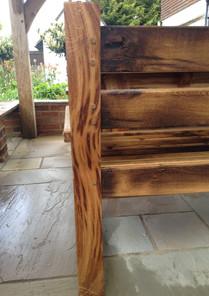 Reclaimed oak bench leg / end