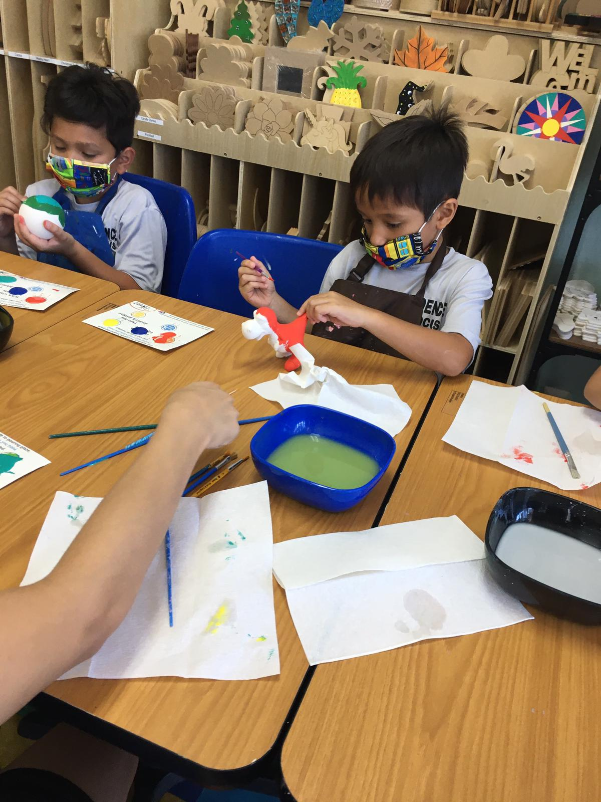 Kids love to paint
