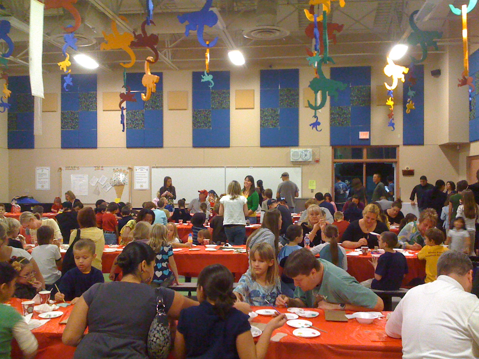 Packed School Cafeteria