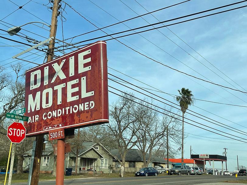 Dixie Motel Street Sign