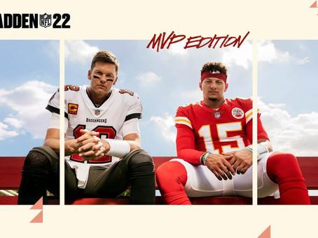 EA SPORTS kündigt Madden NFL 22 an - Tom Brady und Patrick Mahomes auf dem Cover