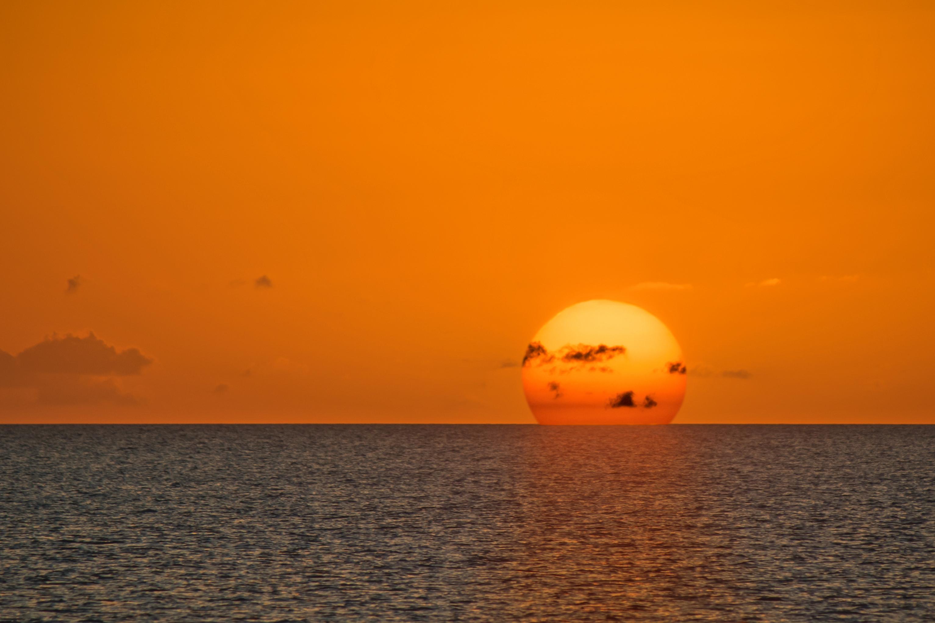 Coucher soleil Exuma Bahamas